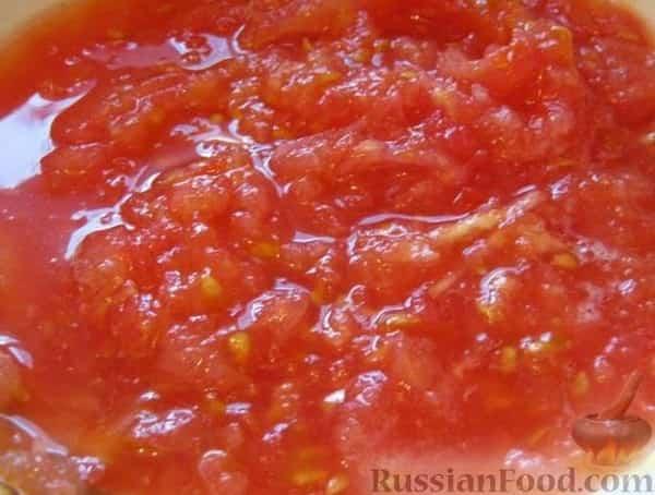 Икра из баклажанов с помидорами