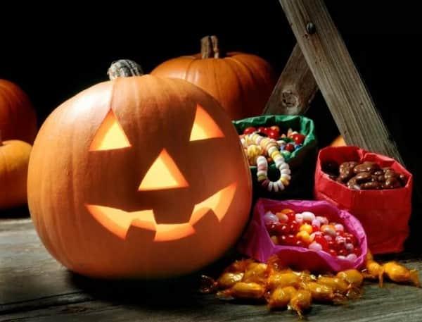Тыква светильник на Хэллоуин