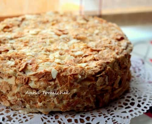 рецепт торта наполеон в домашних условиях с фото пошагово