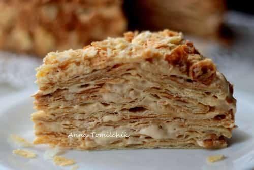 Приготовление торт наполеон пошагово