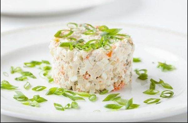 Простой рецепт салата оливье