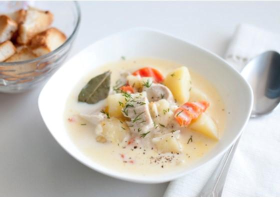 простой рецепт суп с плавленным сыром и колбасой
