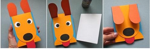 Собачка из бумаги