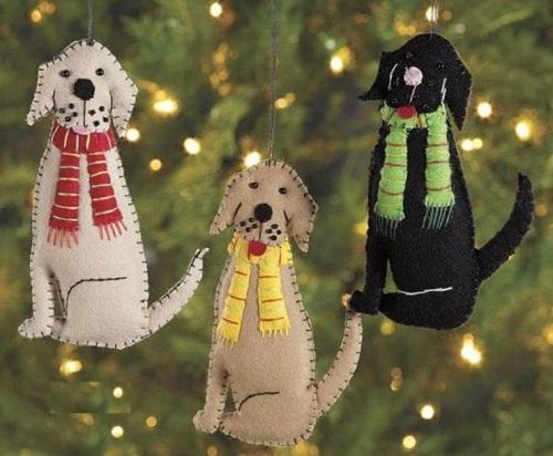 елочные игрушки своими руками собачка