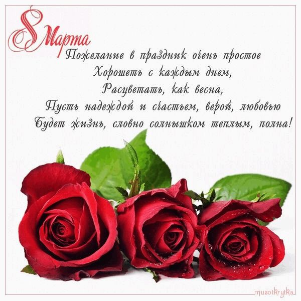 Картинки и открытки на 8 марта: поздравительные красивые (с текстом и надписями в стихах)
