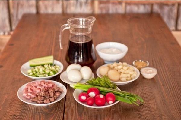 Окрошка на майонезе - 7 лучших пошаговых рецептов холодного летнего супа