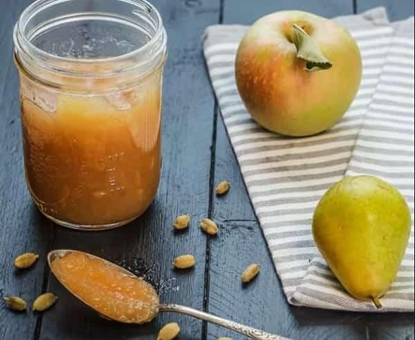 Варенье из яблок с грушами