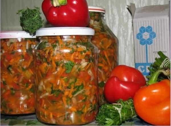 Заправка на зиму для супа с перцем болгарским