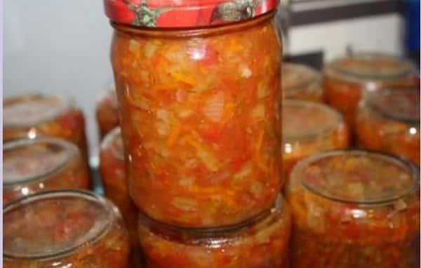 Заправка на зиму для борща с томатной пастой