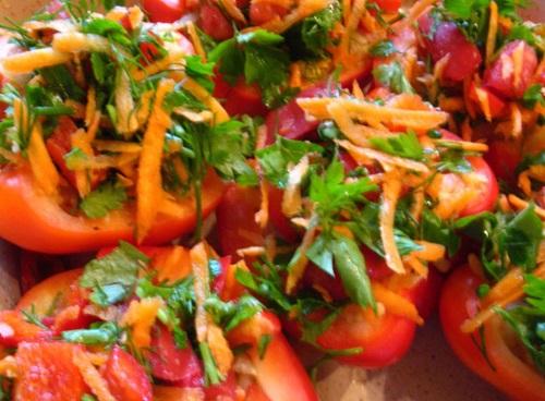 Фаршированный перец с мясом и овощами