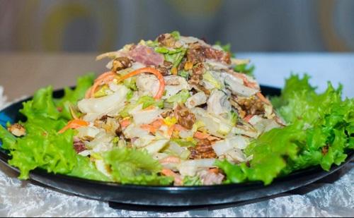 Салат с курицей и корейской морковью