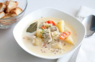 Сырный суп с курицей и плавленными сырками