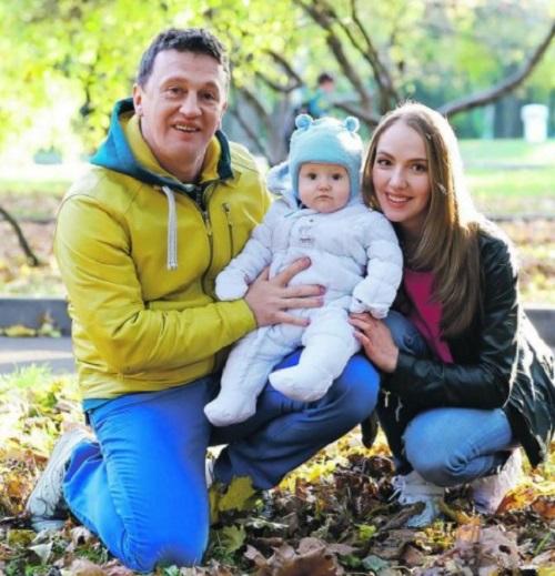 Галина Боб с семьей