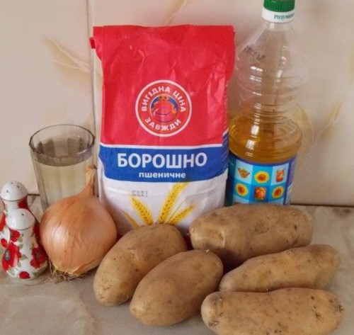 Ингредиенты для вареников с картошкой