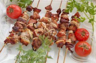 Шашлык из свинины в томате