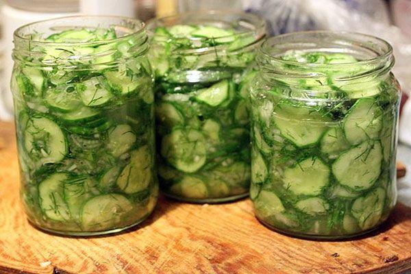 Салат из огурцов на зиму Нежинский классический рецепт