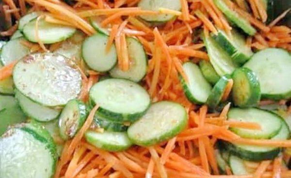 Салат из огурцов с морковью на зиму