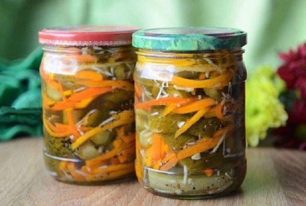 Салат из огурцов на зиму по корейски