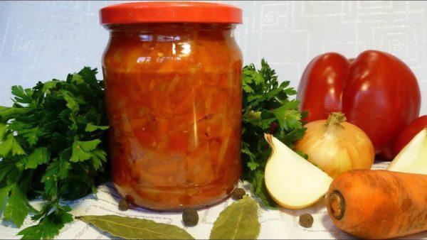 Лечо из перца и помидор с морковью