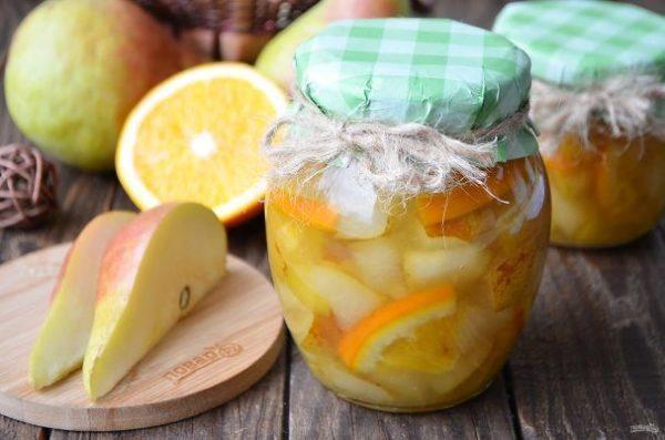 Варенье из груши с апельсином