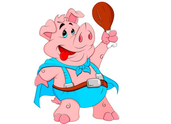 Картинка новогодняя свинка